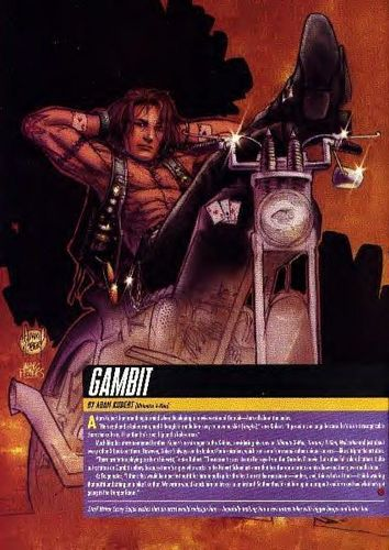 Gambit on his bike