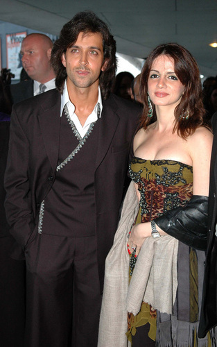 Hrithik with Wife Suzanne