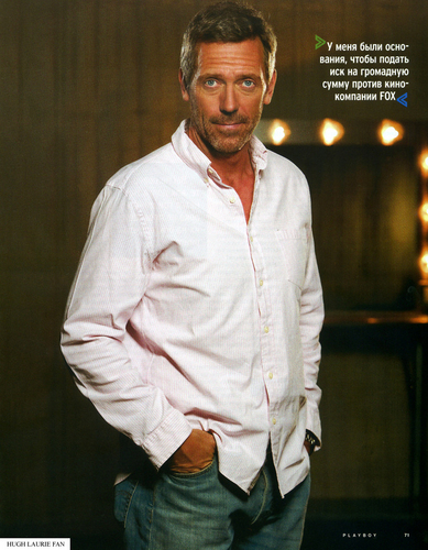 Hugh on প্লেবয় Magazine (Russia) - May 2009