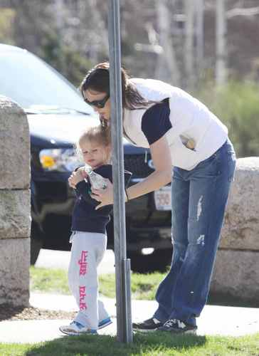 Jen and violeta are out and about - April 24 2009