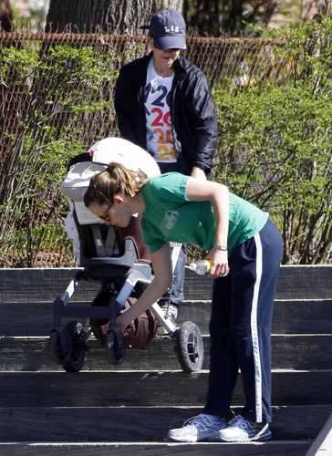 Jen walks In Boston with Seraphina - April 25 2009