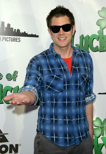 Johnny @ the premiere of 'The Life Of Lucky Cucumber', March 11, 2009
