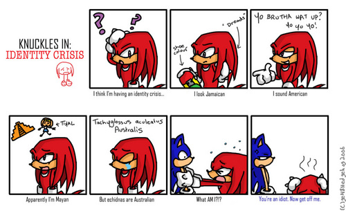 Knuckles in: IDENTITY CRISIS xDD