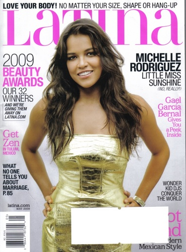 michelle rodriguez wallpaper with a portrait entitled Latina Magazine, May 2009: Cover