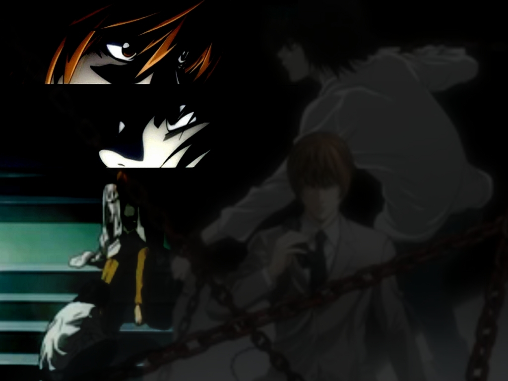 Light vs L - Death Note 1024x768 800x600