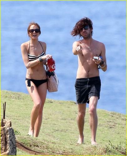 Lindsay Breaks Out the Bikini