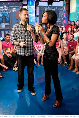 Michelle visits MTV's TRL