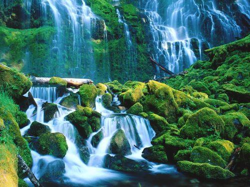 Mountains Waterfalls Wallpaper Called