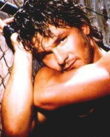 Patrick Swayze Hintergrund with skin and a portrait titled Patrick Swayze