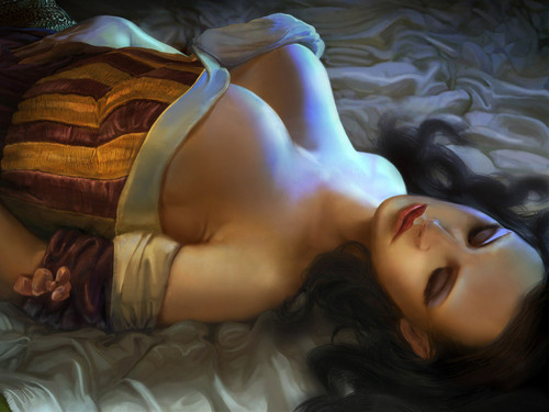 Sleeping Beauty - mystical-women Wallpaper