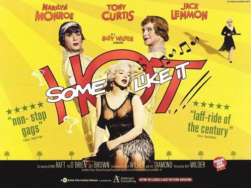 Classic Movies wallpaper possibly containing anime titled Some Like it Hot Wallpaper