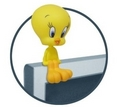 Tweety Monitor Sitter - tweety-bird fan art
