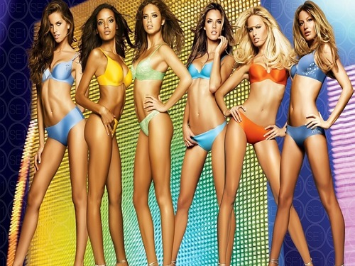 Victoria's Secret Angels wallpaper containing a bikini and a swimsuit entitled VS Angels
