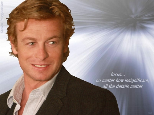 The Mentalist wallpaper containing a business suit entitled focus...