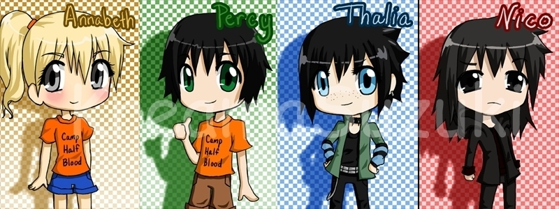 percy and his friends - Percy Jackson & The Olympians 800x300
