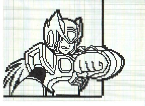 Megaman achtergrond titled zero in pixel001