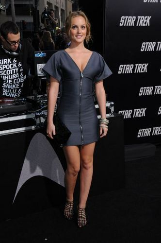 Leighton Meester on the premier of तारा, स्टार trek