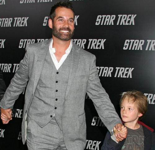 Adrian on سٹار, ستارہ Trek premiere