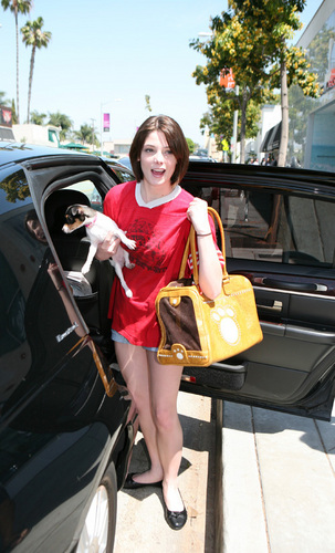 Ashley Greene out at Kitson - April 30