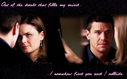 booth and brennan kissing bones