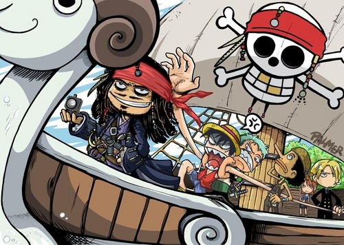 Captain Luffy Meets Captain Jack Sparrow