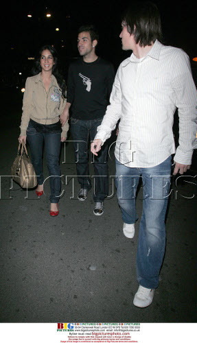 Cesc with Carla and Rosicky