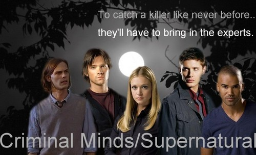 Мыслить как преступник Обои with a portrait called Criminal Minds/Supernatural Crossover