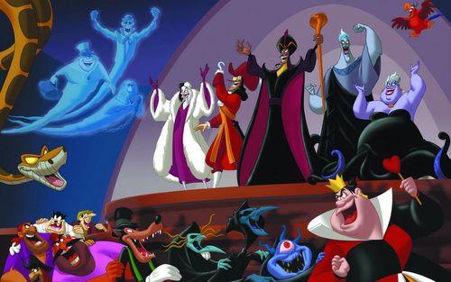 vilões da Disney