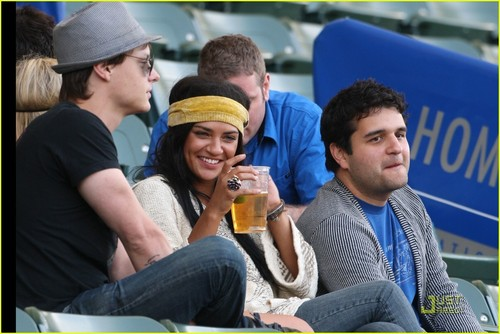 E&J at ফুটবল game