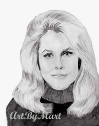Elizabeth Montgomery Drawing