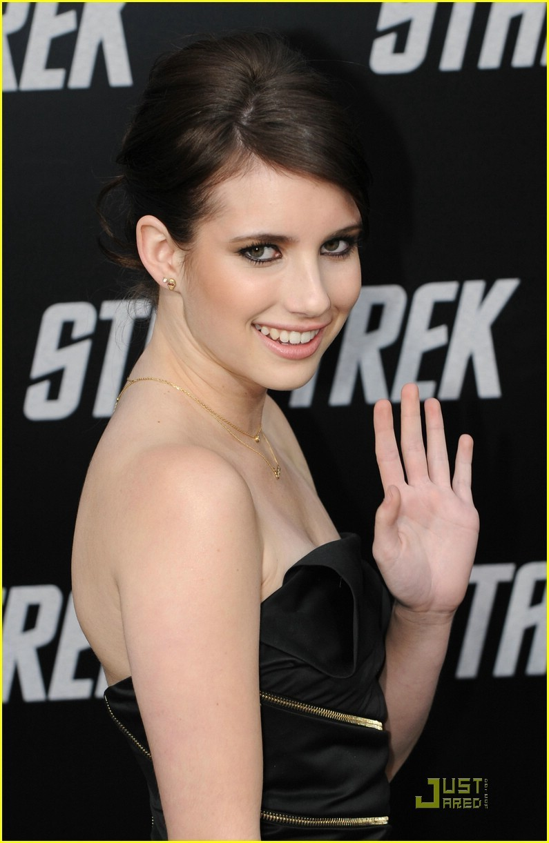 Emma at the Stat Trek premire 2009