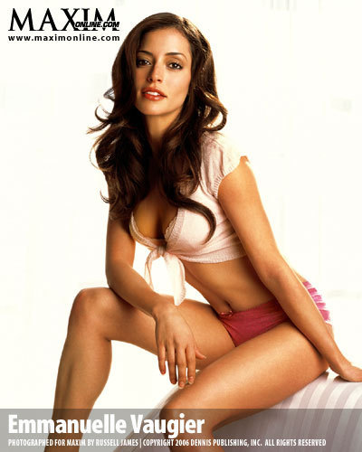 Emmanuelle Vaugier پیپر وال probably with a bikini, attractiveness, and a swimsuit کا, سومساٹ titled Emmanuelle in Maxim