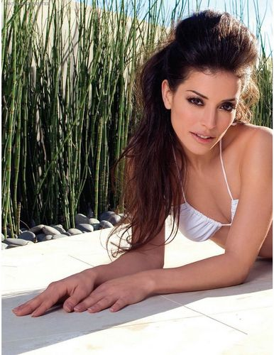 Emmanuelle Vaugier wallpaper probably with a bikini, a portrait, and skin called Emmanuelle in UMM Canada