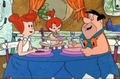 Fred, Wilma and Pebbles Flintstone