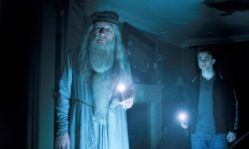 Harry and Dumbledore in HBP