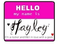 Hello my name is Hayley-for rockzsanders