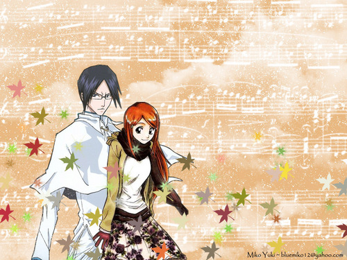 Ishida & Orihime fã Club wallpaper probably containing a sign and a parasol entitled Ishida x Orihime wallpaper