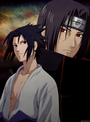 Itachi Uchiha wallpaper containing anime called Itachi and Sasuke