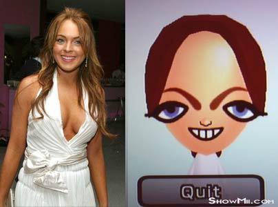 Lindsay Lohan Mii