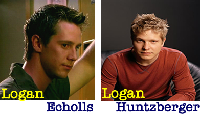 Television wallpaper probably with a portrait entitled Logan Echolls and Logan Huntzberger