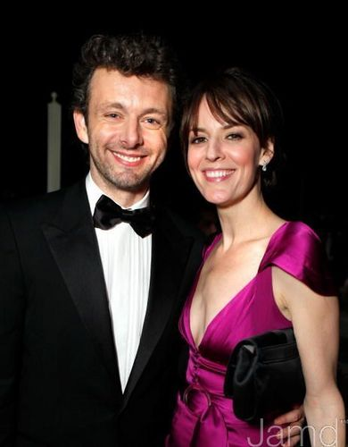 Michael Sheen and Rosemarie DeWitt at the Vanity Fair Oscar Party