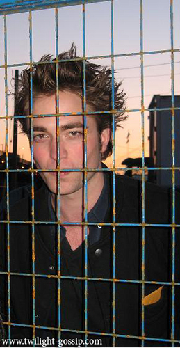 Robert on the set of new moon