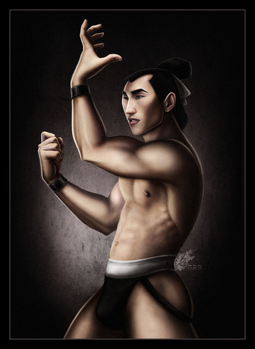 Leading men of disney wallpaper containing skin called Shang