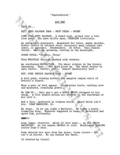 スーパーナチュラル script