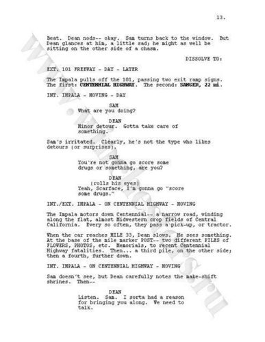 Supernatural wolpeyper titled Supernatural script