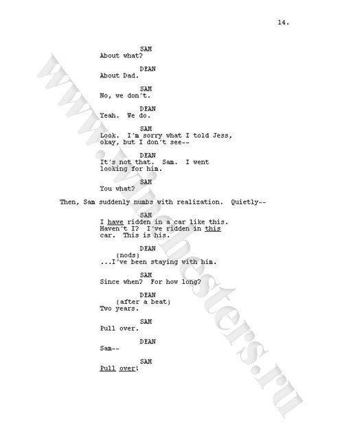 Supernatural script