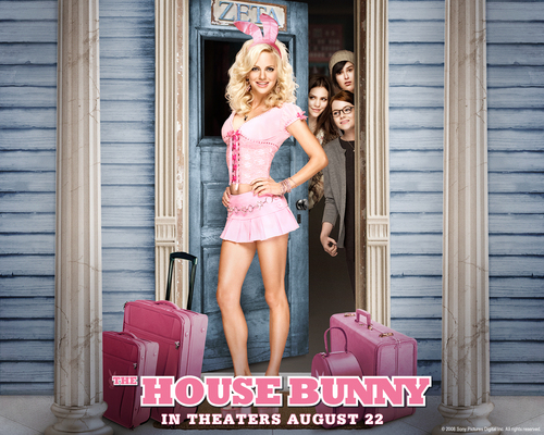 The House Bunny wallpaper with bare legs, tights, and a leotard titled The House Bunny