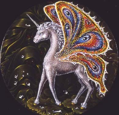 Unicorn With Butterfly Wings - unicorns Photo