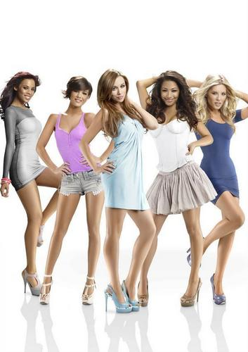 The Saturdays wallpaper probably containing a cocktail dress, a chemise, and a portrait titled Veet Photoshoot