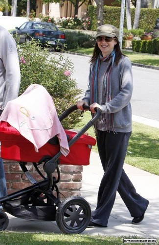 Alyson Hannigan kertas dinding probably with a barrow entitled Walking the Baby